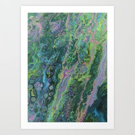 Green Pour Inverted 3 Art Print