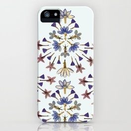 Radiating Flower Collage iPhone Case