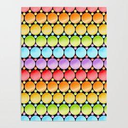 Rainbow Dotty Stripes Poster