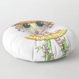Sherri Baldy My Besties Sugar Plum Treats Big Eyed Art Floor Pillow