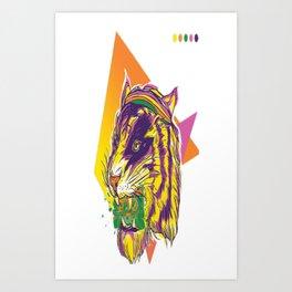 TIGER ROAR Art Print