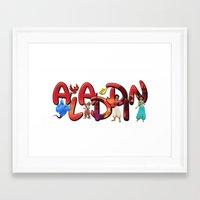aladdin Framed Art Prints featuring Aladdin  by Mix-Master