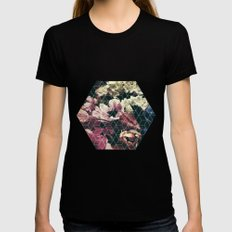 Spring Geometry Black Womens Fitted Tee X-LARGE