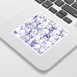just alpacas blue white Sticker