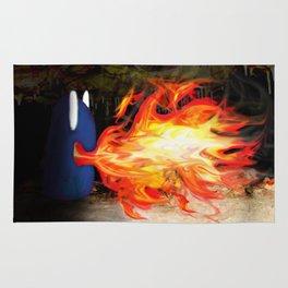 Fire Monster Design Rug