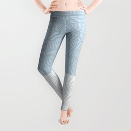 Classic pattern light blue and white - part1 #eclecticart Leggings