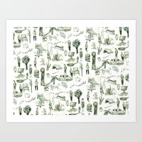 wallpaper Art Prints featuring Wallpaper by Bridie Cheeseman