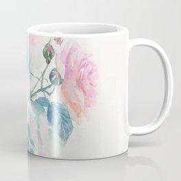 Watercolor Pink English Rose Garden Coffee Mug
