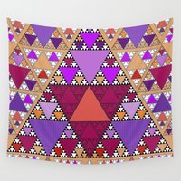 triangle Wall Tapestries featuring Triangle by Anne Seltmann