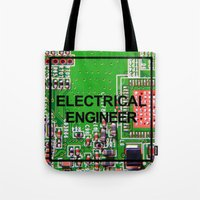 engineer Tote Bags featuring Electrical Engineer by EEShirts