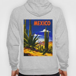 Vintage Mexico Village Travel Hoody