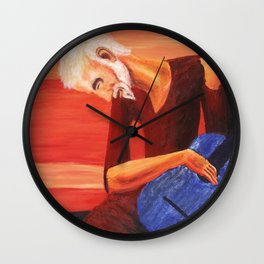 Young Guitarist Wall Clock