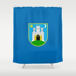 Flag of Zagreb Shower Curtain