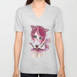 Cheshire Kitty Unisex V-Neck