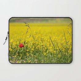 Red poppy in a yellow field Laptop Sleeve