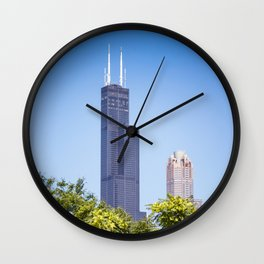 Sears Tower Chicago Loop Skyscraper Willis Tower Windy City Wall Clock