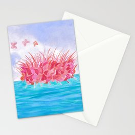 Sunrise over the sea Stationery Cards