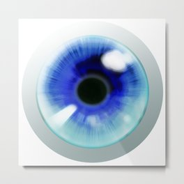 Blue Eye - Graphic Design Metal Print