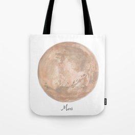 Mars planet Tote Bag