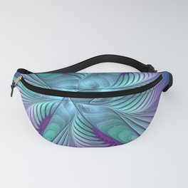 Colorful Grace, Abstract Fractal Art Fanny Pack
