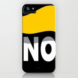 NO DONALD J TRUMP iPhone Case