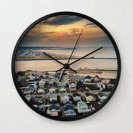 Sky's Fire Wall Clock