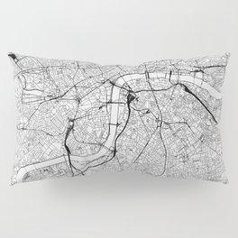 London White Map Pillow Sham