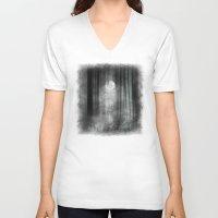 justin timberlake V-neck T-shirts featuring Dark by Viviana Gonzalez