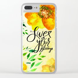 Live in Your Blessings Clear iPhone Case