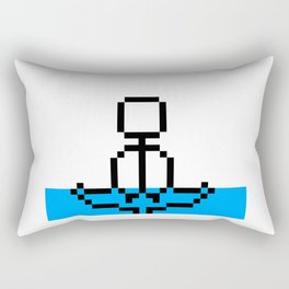 Pixel Art Yoga Sitting Pose Rectangular Pillow