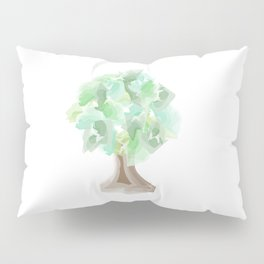 Watercolor tree with a wide trunk Pillow Sham