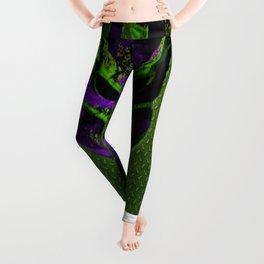 Soldier Predator Green Purple Leggings