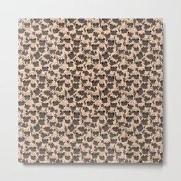 Fawn Pugs Metal Print