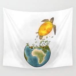 Climate changes the nature Wall Tapestry