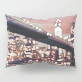 New York City Brooklyn Bridge Lights Pillow Sham
