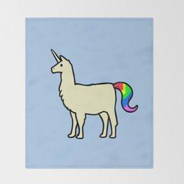 Llamacorn Throw Blanket