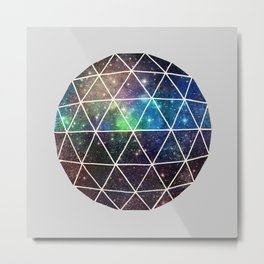 Space Geodesic Metal Print