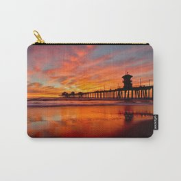 HB Sunsets   12/20/15  ~  Sunset At The Huntington Beach Pier Carry-All Pouch