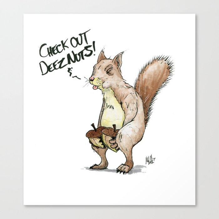 A Sassy Squirrel Leinwanddruck