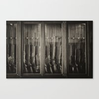 guns Canvas Prints featuring Guns by Aaron MacDougall