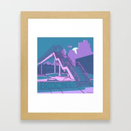Brooklyn Street Skate Park Framed Art Print