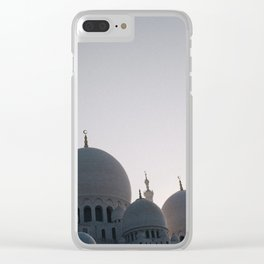 Abu Dhabi adventures; Sheikh Zayed Grand Mosque Clear iPhone Case