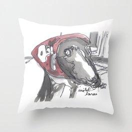 Violet - The Dog Portrait Series Throw Pillow