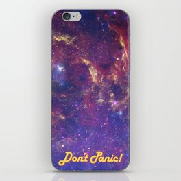 Don't Panic! in Friendly Yellow iPhone Skin