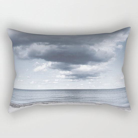 Looking for the clouds - Beach Ocean Sea Cloud Water Landscape on #Society6 Rectangular Pillow