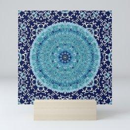 Boho Vine Leaf Mandala Mini Art Print