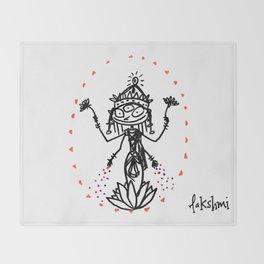 Lakshmi: Goddess of Abundance Throw Blanket