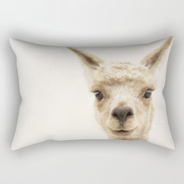 Alpaca Portrait Rectangular Pillow