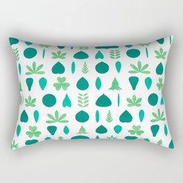 Leaf Shapes and Arrangements Pattern Bright Rectangular Pillow