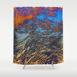 Tropical Forecast Shower Curtain